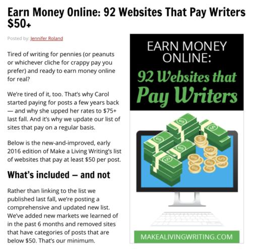 10 Ideas To Make Money Writing