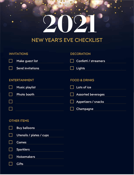 10 New Year's Eve Business Ideas