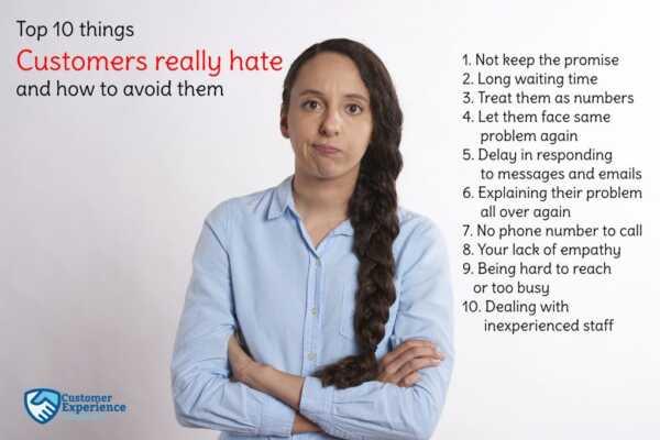 10 Things Customers Hate