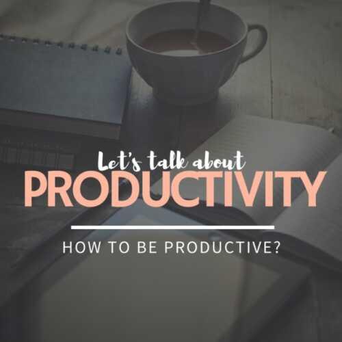 Let's talk about #Productivity