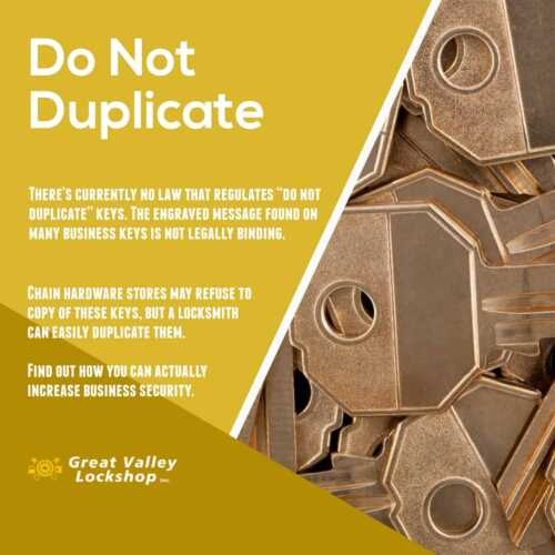 Locksmith And Key Duplication Business