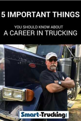 Things you should know before pursuing a career in trucking